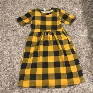 Mustard Plaid Dress